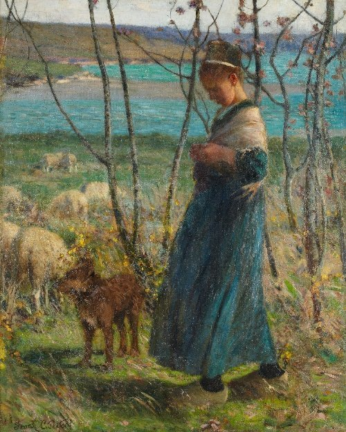 Frank C. PENFOLD (1849-1921) Young Shepherdess