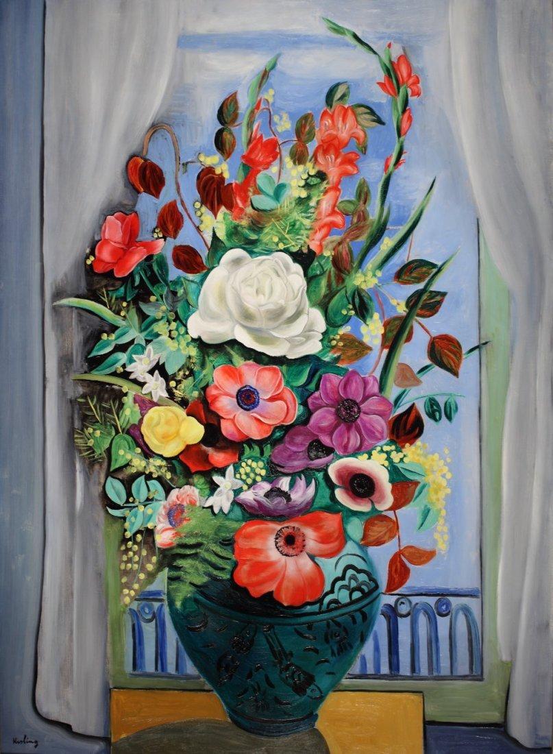Grand Bouquet devant la fenêtre, 1928