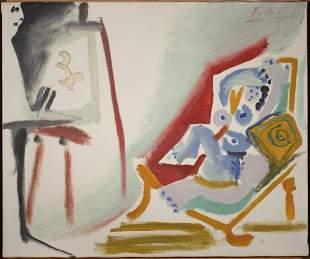 La Peintre et son modele, 26 March 1965