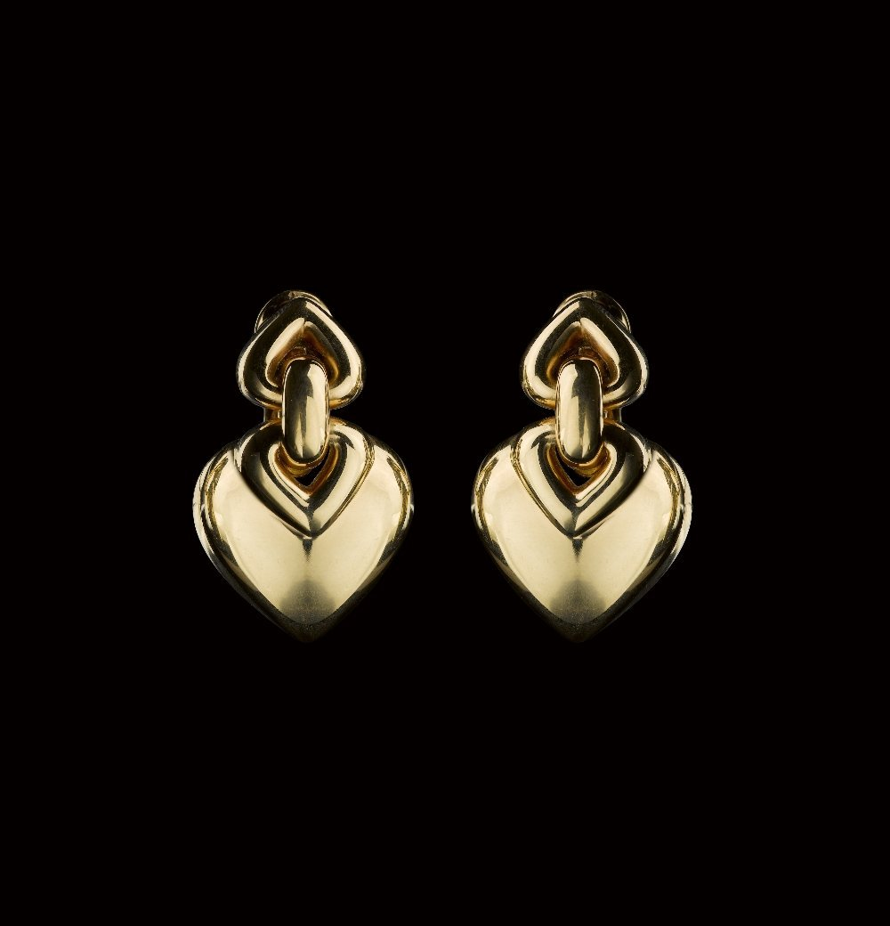 A PAIR OF GOLD EAR CLIPS, BY BULGARI