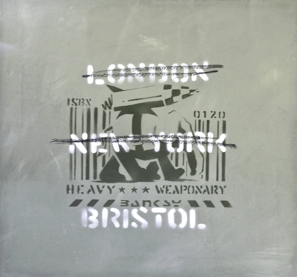 BANKSY London, New York, Bristol (Heavy Weaponry), 2000
