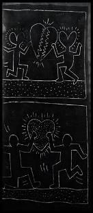 Keith HARING (1958-1990) Untitled, Subway drawing, 1981