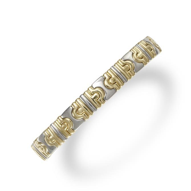 A Gold and Steel 'Parenthesi' Bracelet
