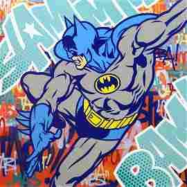 SEEN (b. 1961); Batman in the Storm, 2014