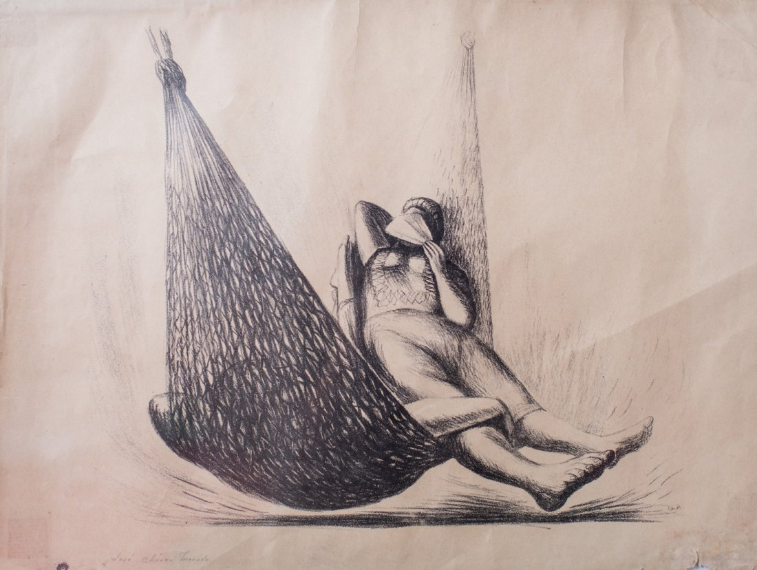 Jose Chavez MORADO (Mexico, 1909-2002) Siesta en hamaca