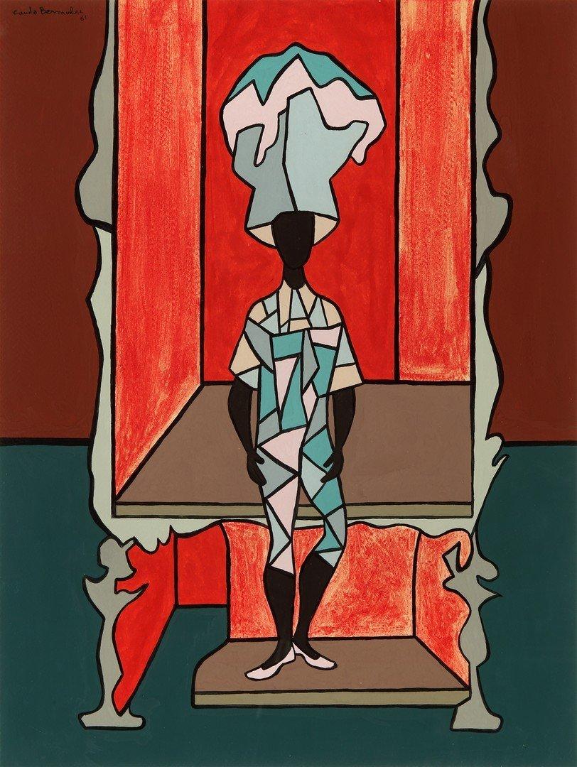 Cundo BERMUDEZ (Cuban, 1914- 2008) Hombre en Caja, 1981