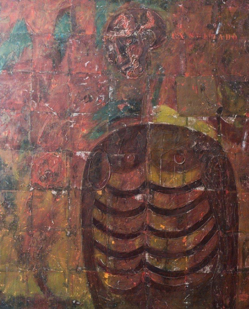 Hector NAVARRO (Mexican, born 1937) Joven ex soldado,