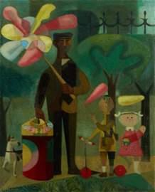 Mario CARRENO (Cuban,1913-1999) At the parc, 47