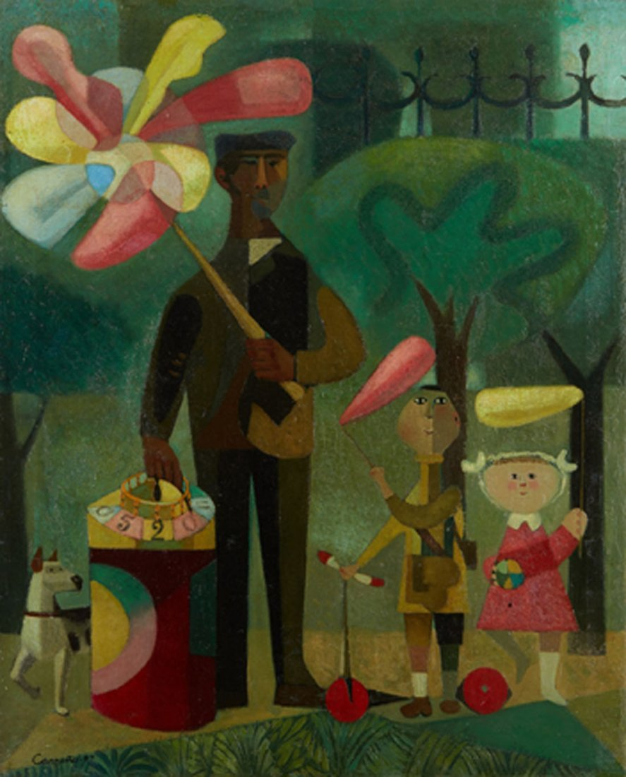 Mario CARRENO (Cuban,1913-1999) At the parc, 47