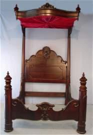 11: Rosewood Half Tester Plantation Bed, signed C. Lee,