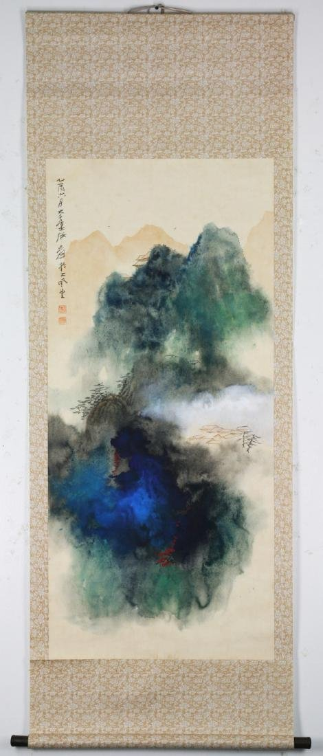 A CHINESE PAPER HANGING PAINTING SCROLL BY YUAN, JIANG - 3