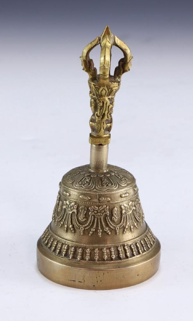 A TIBET ANTIQUE METAL BELL