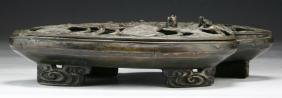 A JAPANESE ANTIQUE CAST IRON CENSER