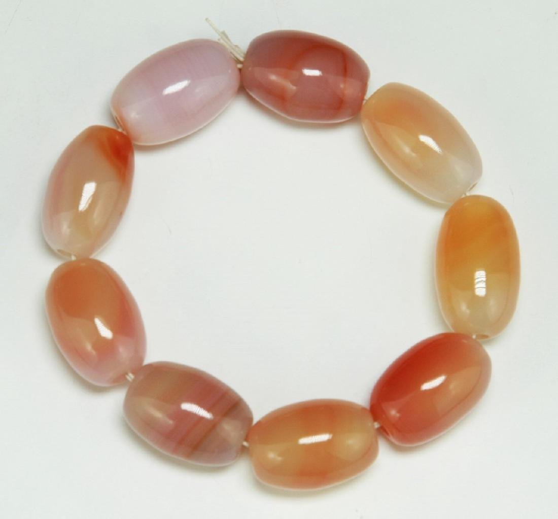 PAIR AGATE BEADED BRACELETS - 3