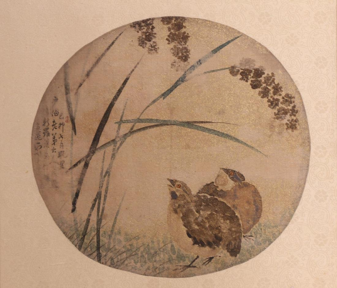A CHINESE FRAMED PAPER PAINTING