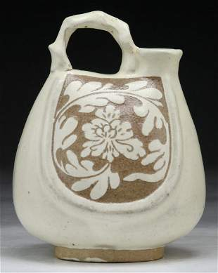 A Chinese Antique LiaoStyle Handled Pitcher