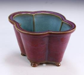 A Chinese Antique Junyao Glazed Porcelain Planter
