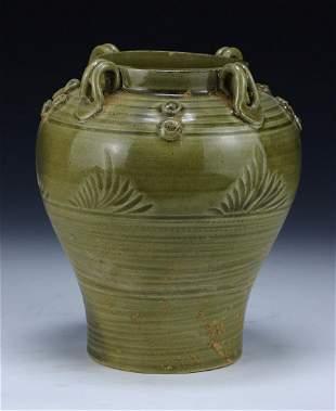 A Chinese Antique Celadon Glazed Vase