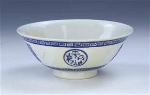 A CHINESE ANTIQUE BLUE WHITE PORCELAIN BOWL