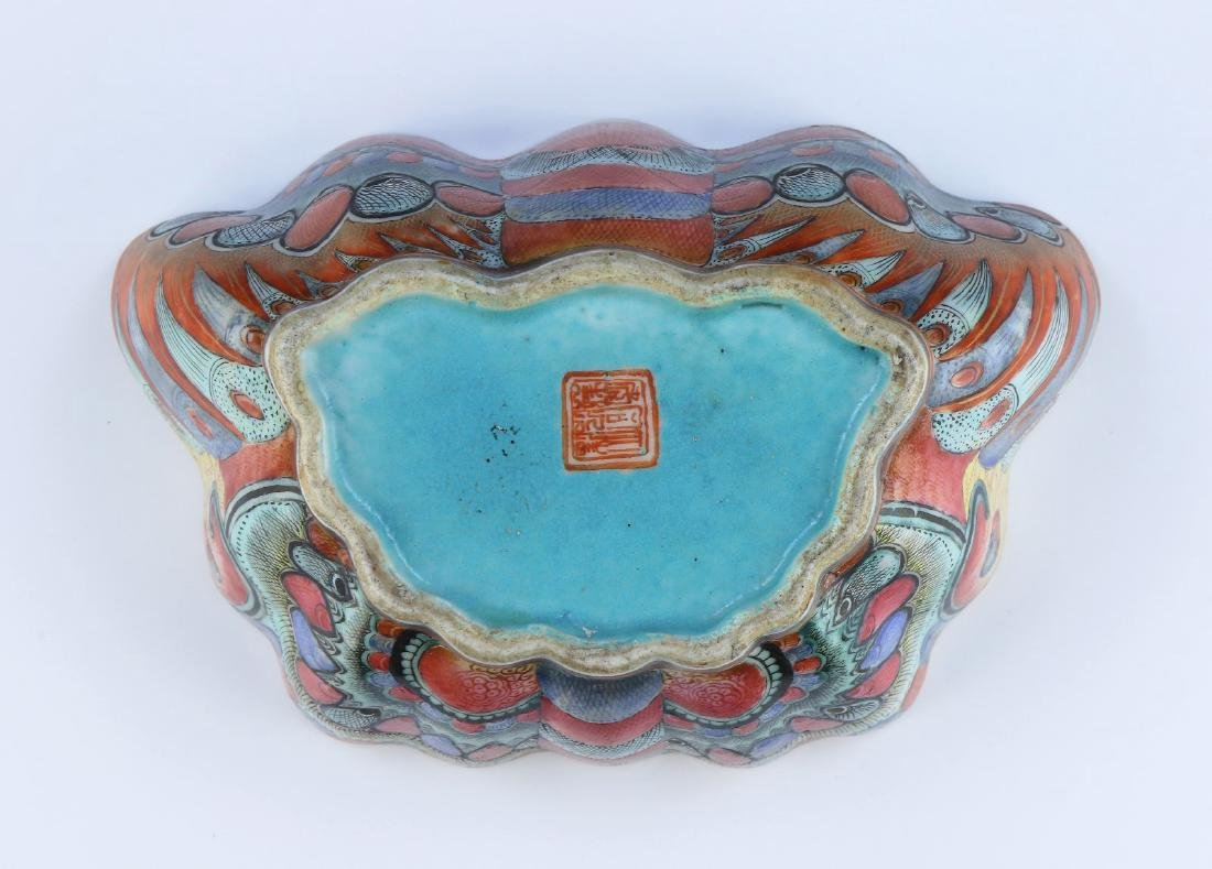 A CHINESE ANTIQUE FAMILLE ROSE PORCELAIN BOWL - 5