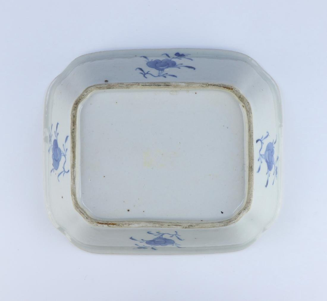 A CHINESE ANTIQUE BLUE & WHITE LIDDED PORCELAIN TUREEN - 3