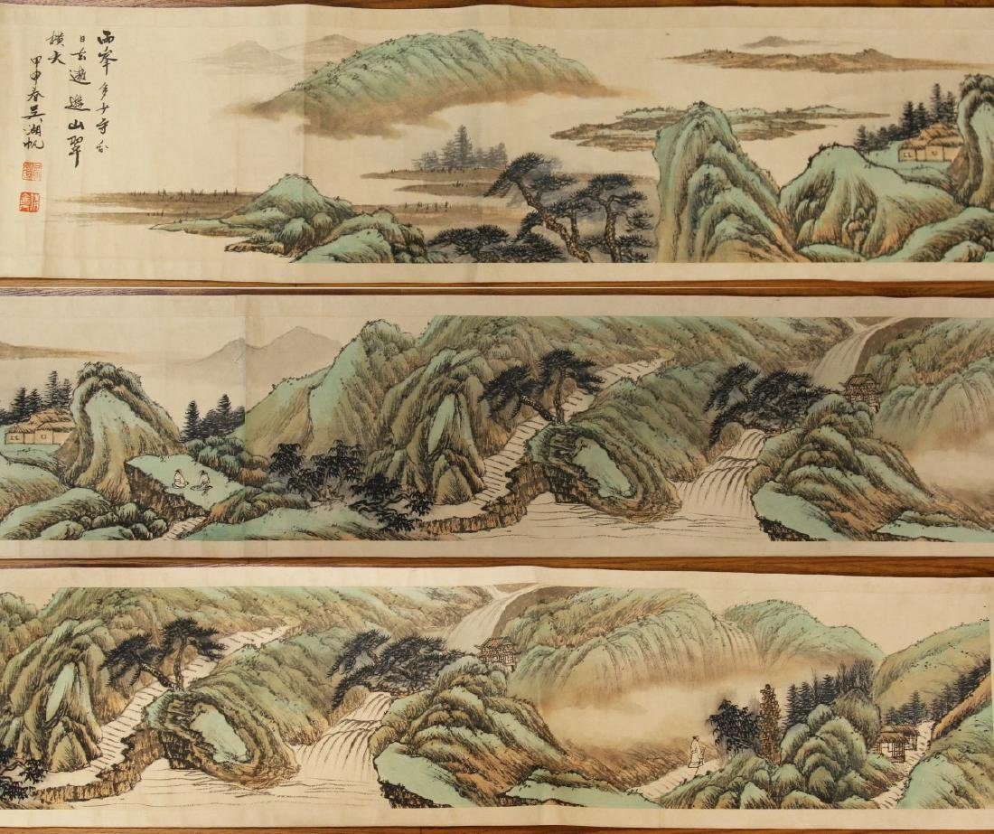 A CHINESE PAPER PAINTING HAND SCROLL BY WU, JIANFU
