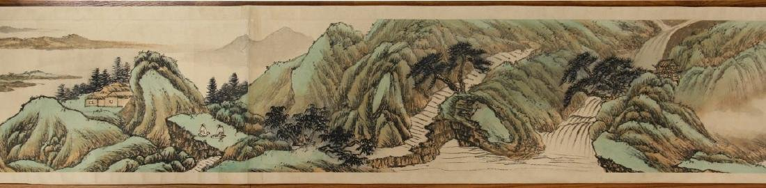 A CHINESE PAPER PAINTING HAND SCROLL BY WU, JIANFU - 4