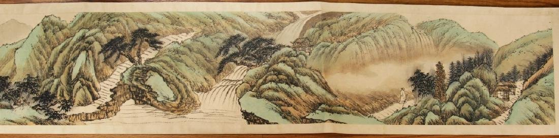 A CHINESE PAPER PAINTING HAND SCROLL BY WU, JIANFU - 5