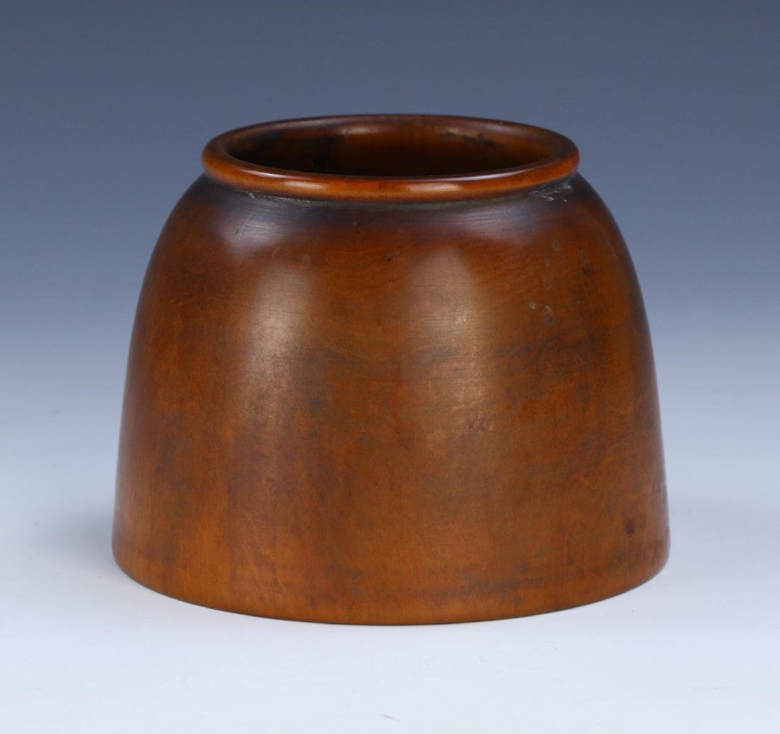A CHINESE ANTIQUE BOXWOOD WASHER