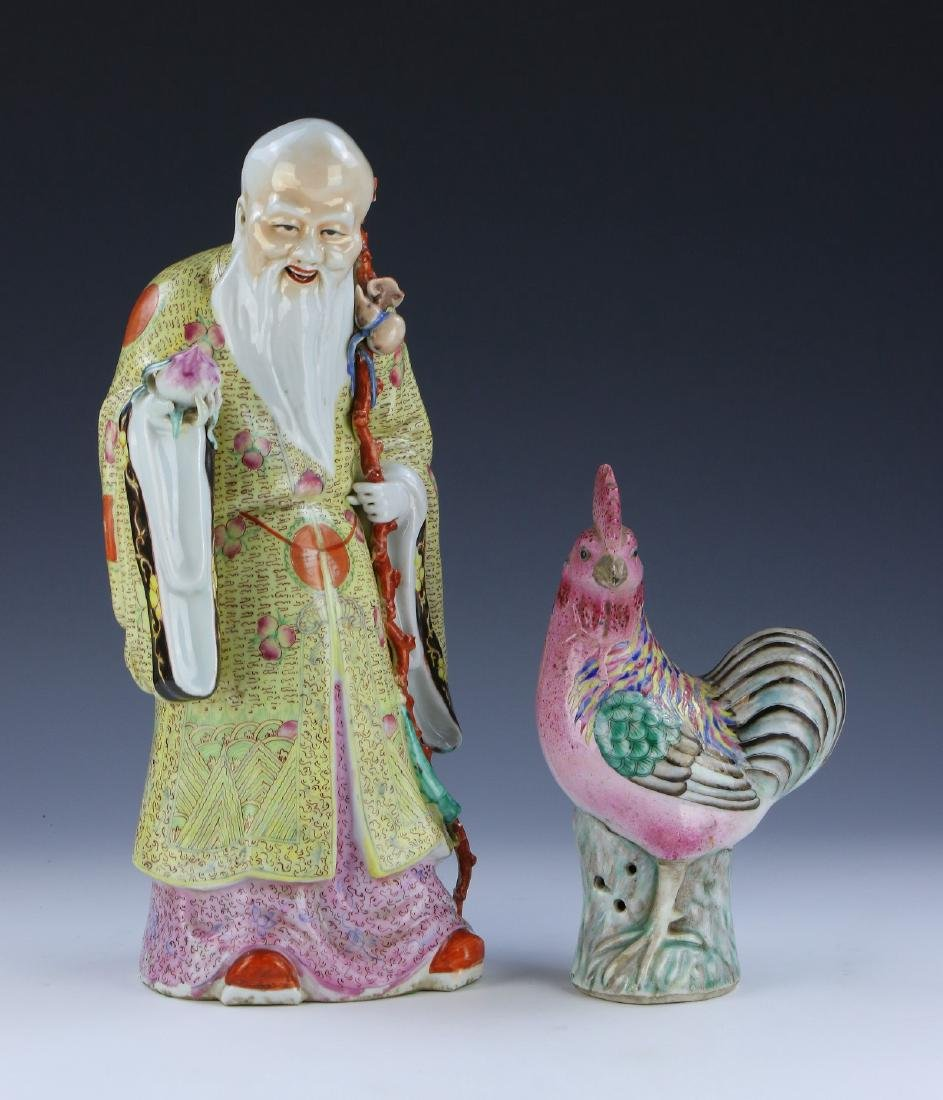 TWO (2) CHINESE ANTIQUE MIXED FAMILLE ROSE PORCELAIN