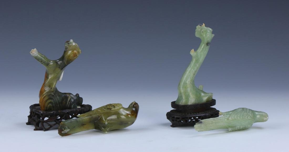 EIGHT (8) CHINESE JADE, AMYTHST & ROSE QUARTZ ITEMS - 2