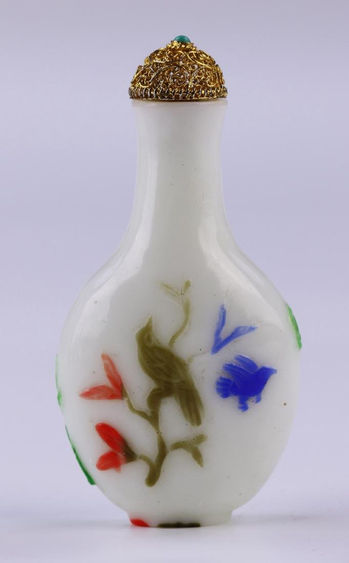 A FIVE-COLOR OVERLAY GLASS SNUFF BOTTLE - 2