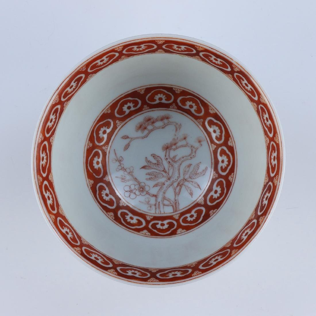 A CHINESE ANTIQUE IRON RED PORCELAIN BOWL - 3