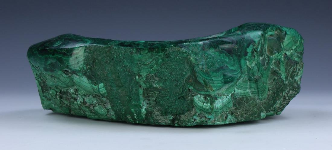 A BIG CHINESE MALACHITE CARVED BOWL - 3