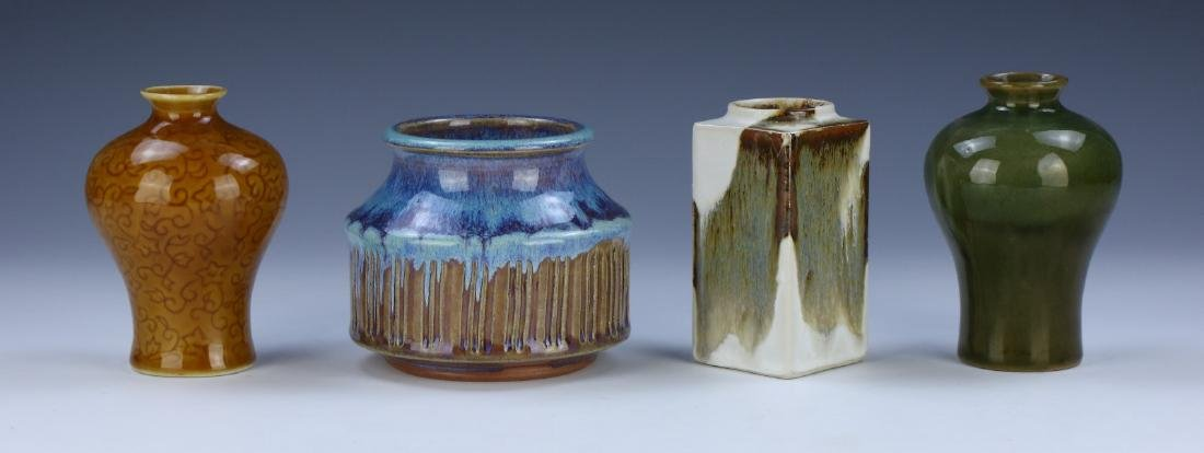 FOUR (4) CHINESE MIXED PORCELAIN VASES