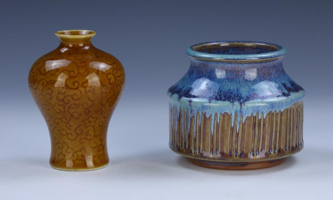 FOUR (4) CHINESE MIXED PORCELAIN VASES - 2