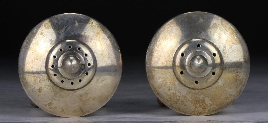 PAIR CHINESE SILVER SHAKERS - 2
