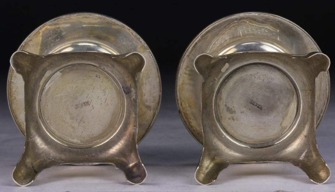 PAIR CHINESE SILVER SHAKERS - 3