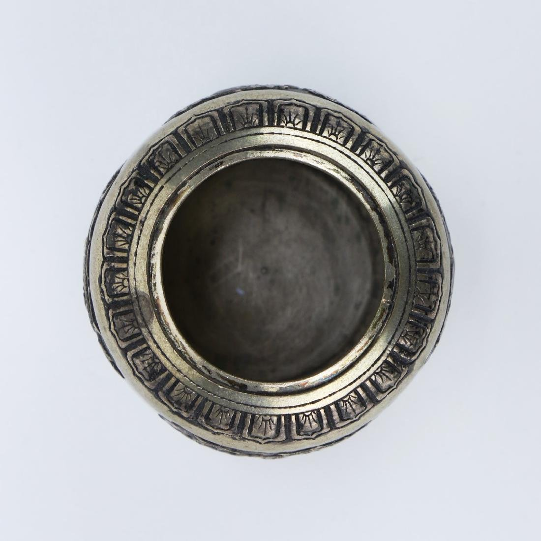 A CHINESE LIDDED SILVER CASE - 3