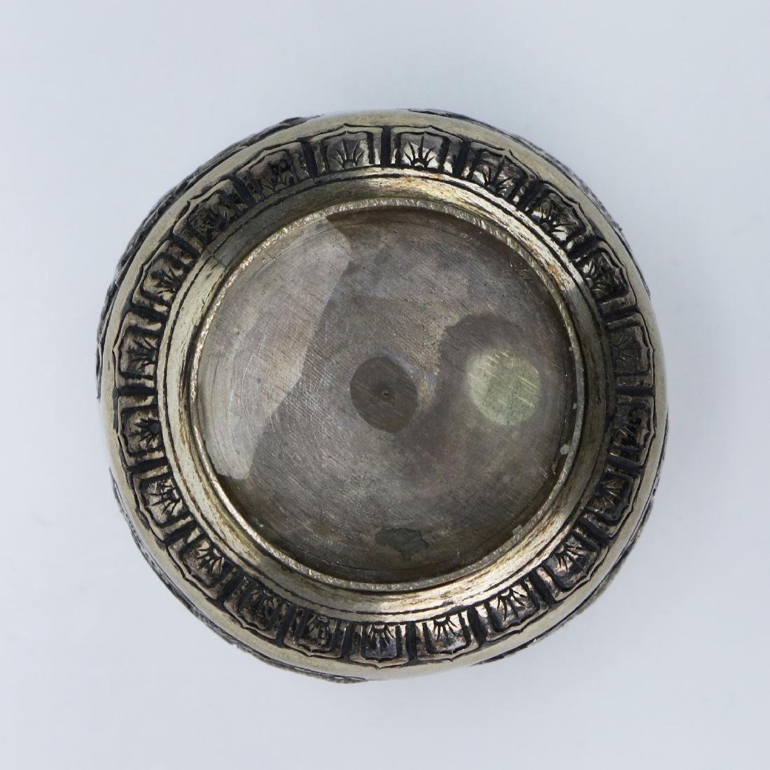 A CHINESE LIDDED SILVER CASE - 4