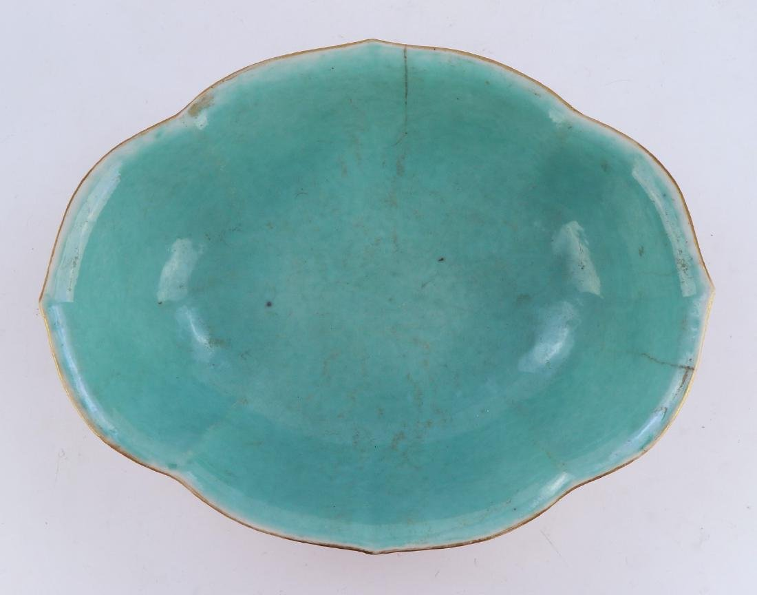 A CHINESE IRON RED GLAZED PORCELAIN BOWL - 5