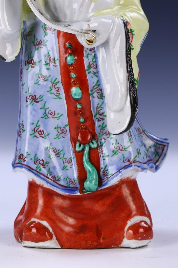 A Chinese Famille Rose Porcelain Shoulao Figure - 3
