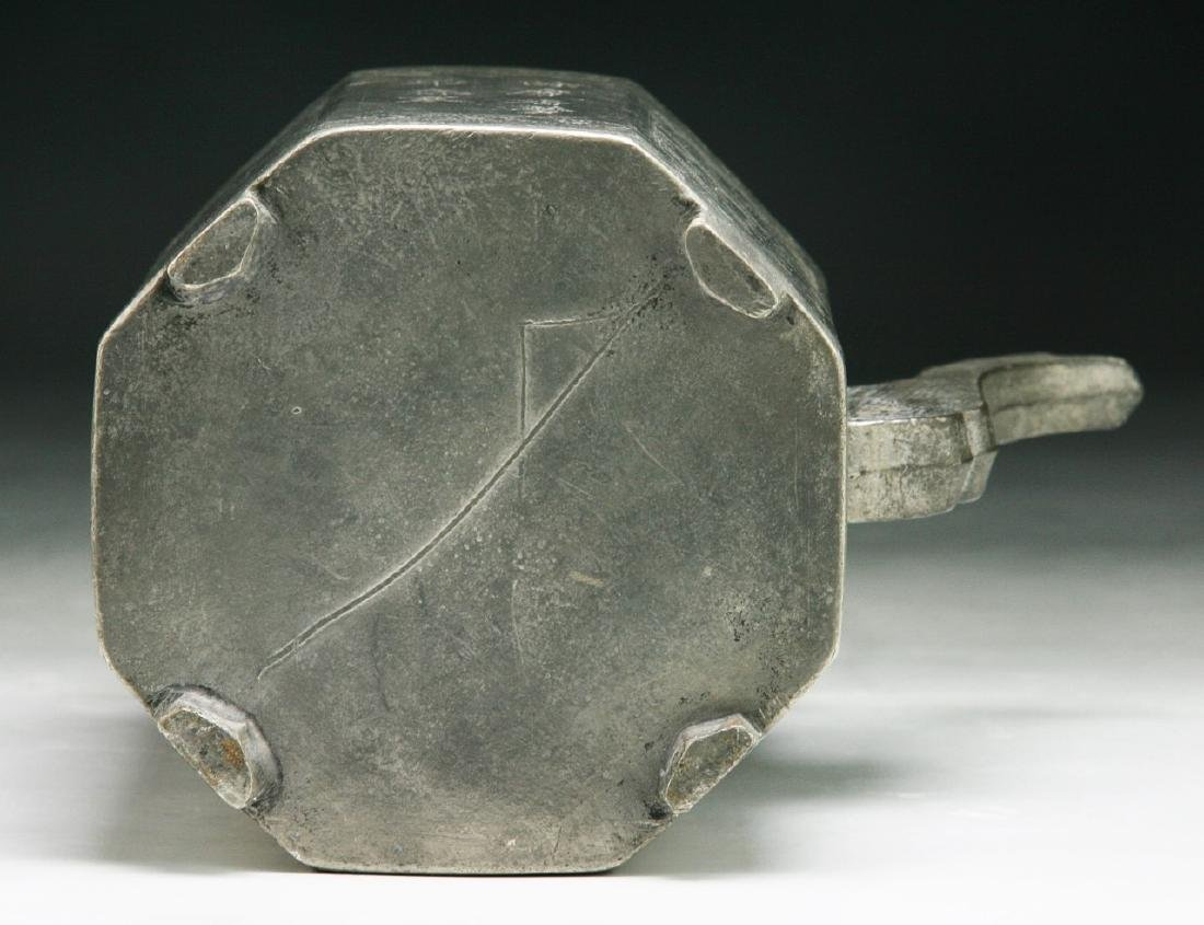 A Chinese Pewter Tin Teapot - 3
