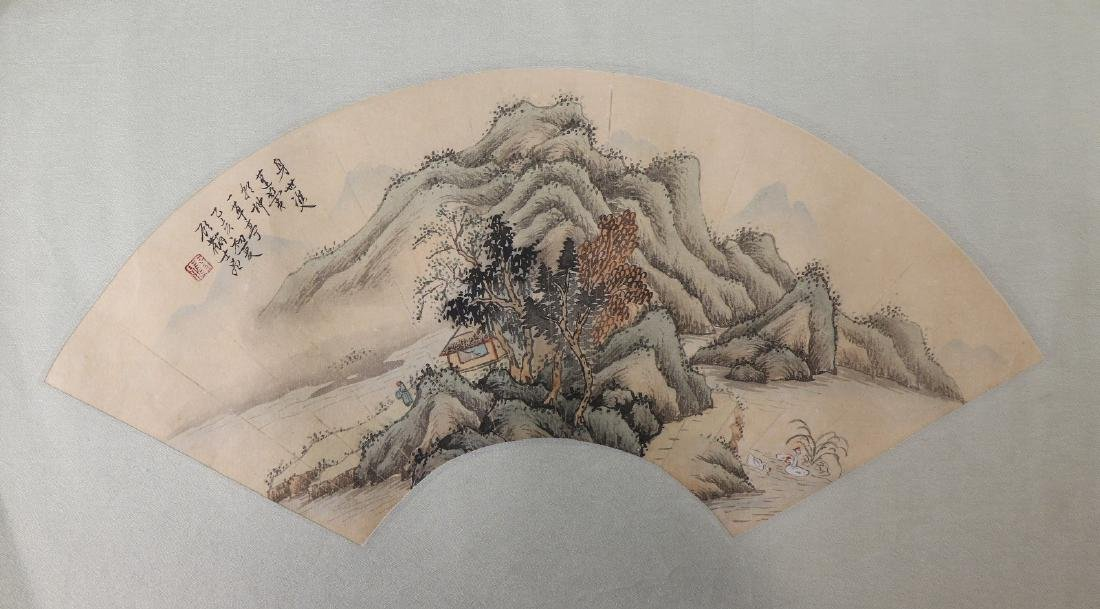 A CHINESE UNMOUNTED PAPER PAINTING BY GU, LINSHI