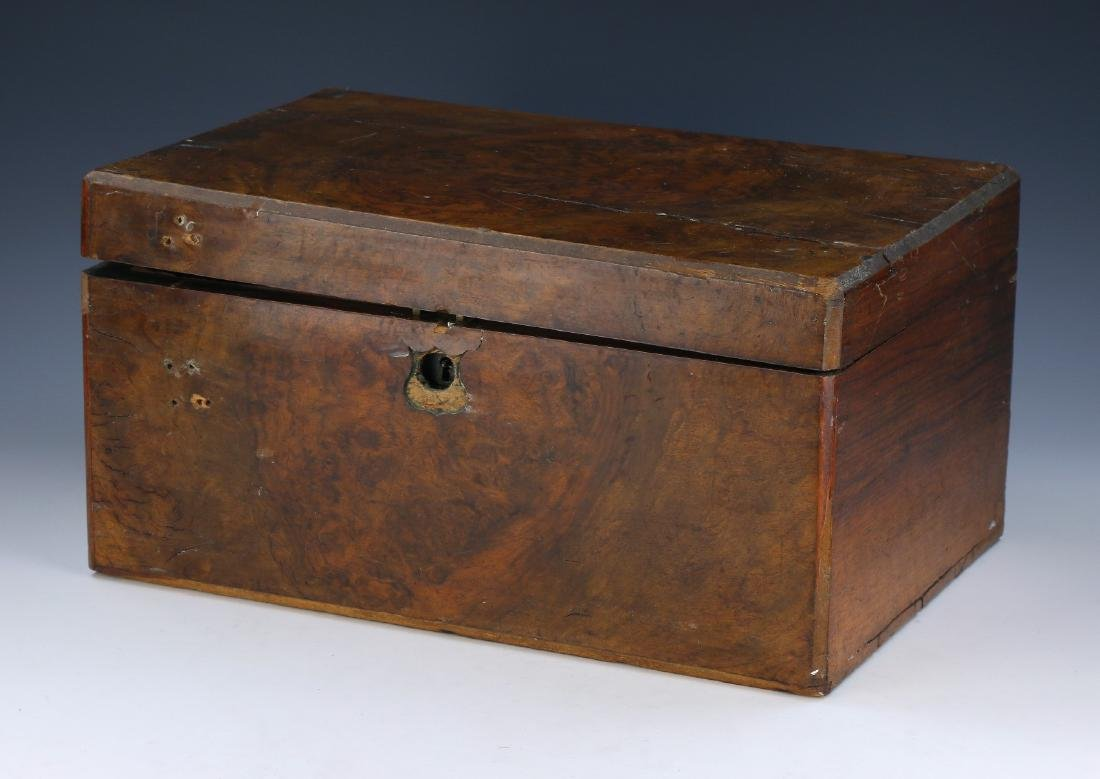A BURL WOODEN BOX