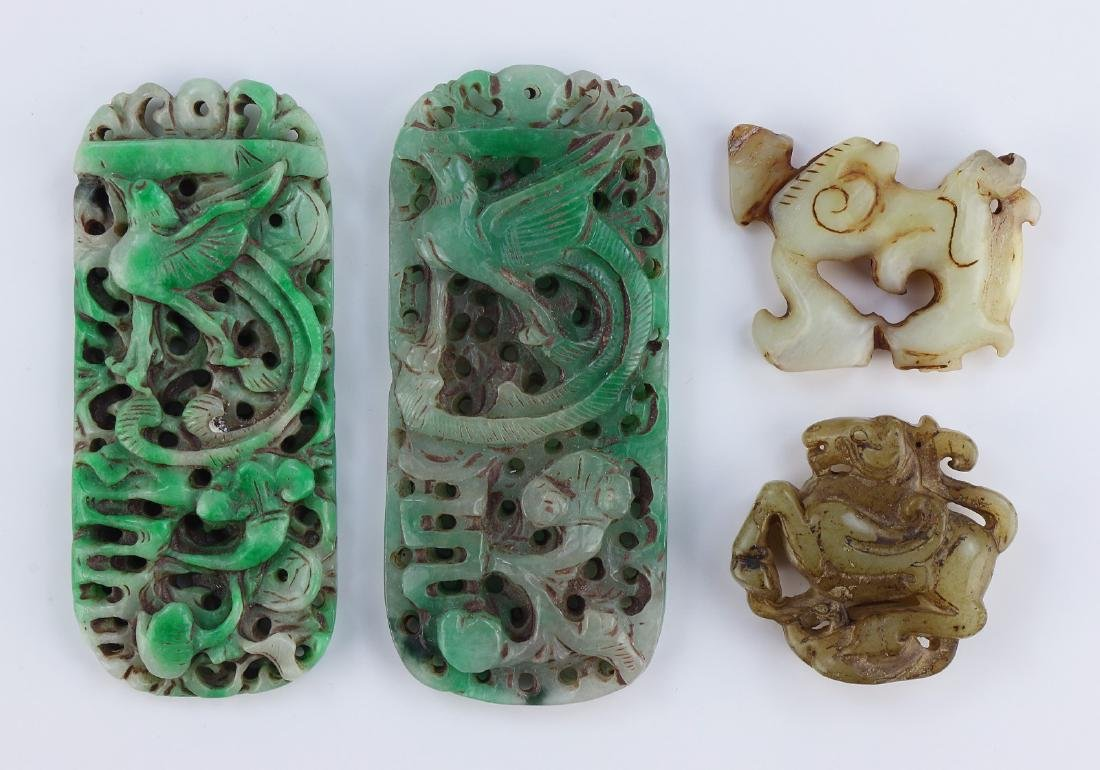 FOUR (4) CHINESE STONE CARVINGS
