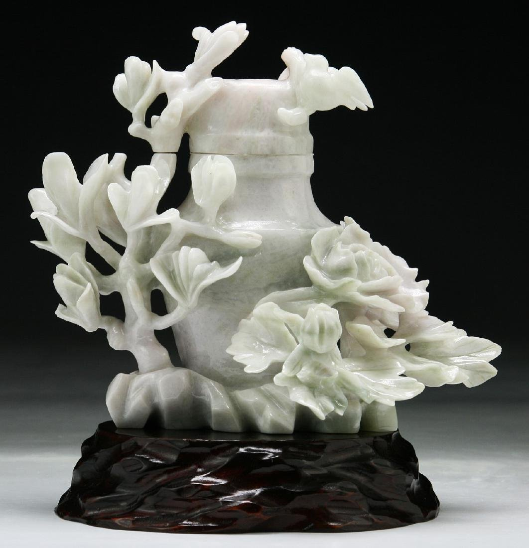 A Chinese Jadeite Vase Carving