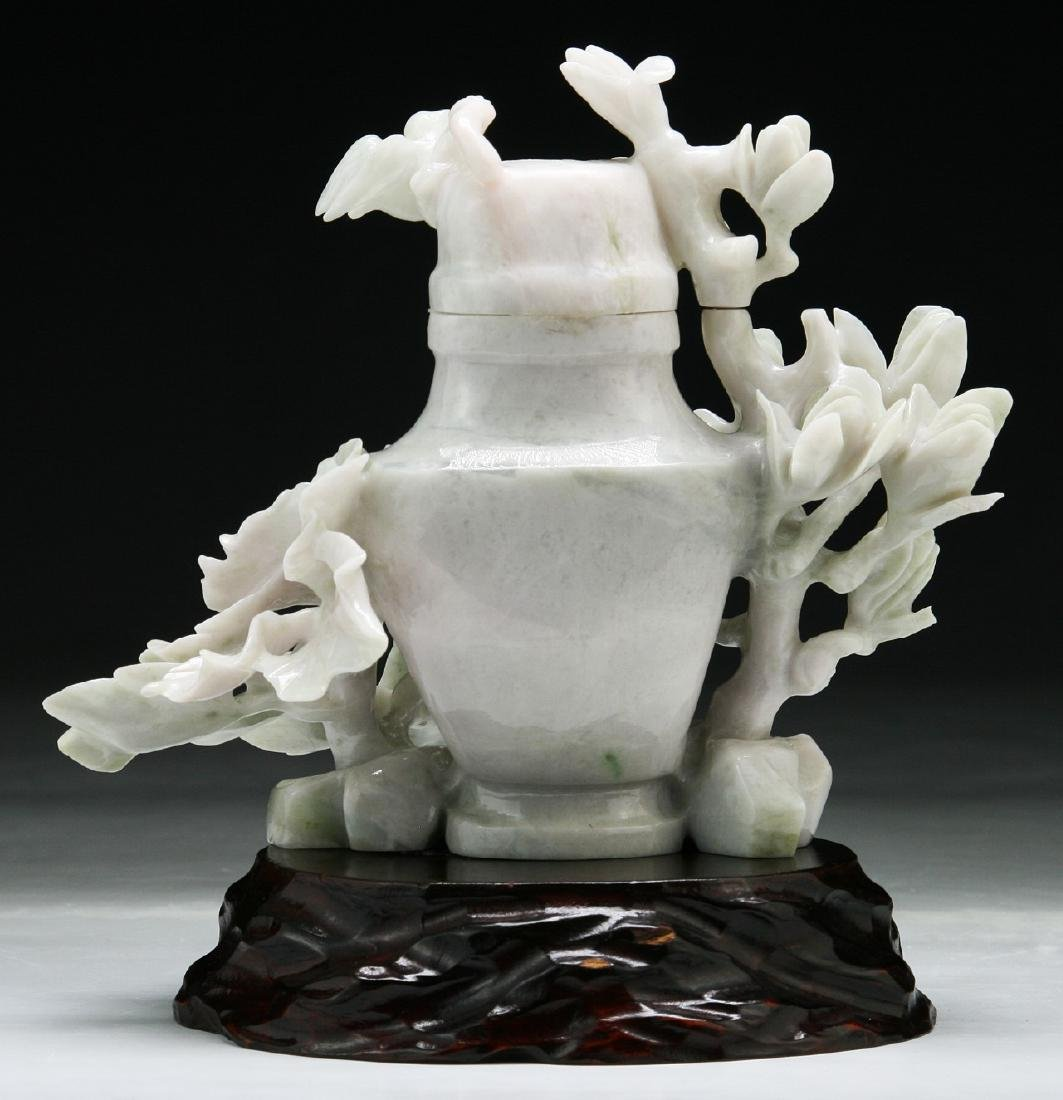 A Chinese Jadeite Vase Carving - 2