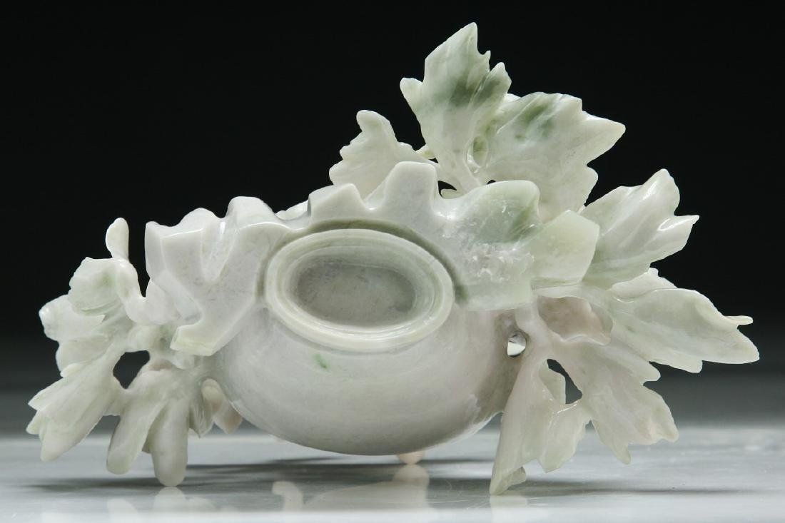 A Chinese Jadeite Vase Carving - 3