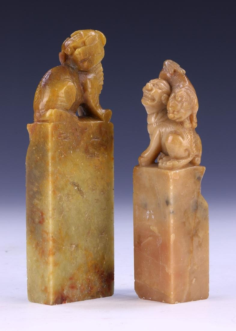 TWO (2) CHINESE SOAPSTONE SEALS
